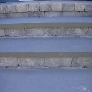 Penn Blue step treads w Paver risers